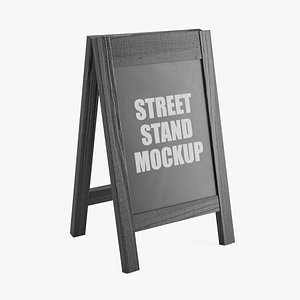 3D wooden street stand