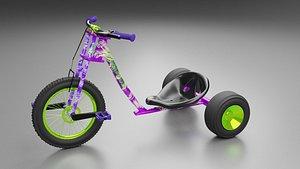 Pink Trike Bike -Glows in the Dark 3D model