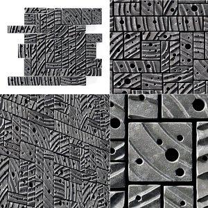 3D panel block stone