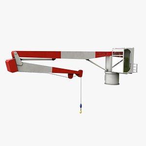 3D nieborg ship deck crane port model