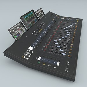 mackie dc16 control surface 3D model