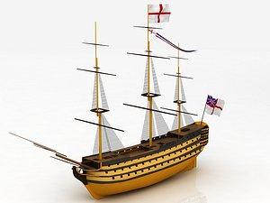 HMS Victory Flagship 3D
