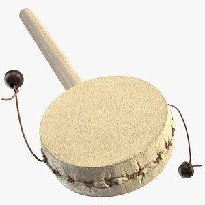 vintage handheld pellet drum 3D model