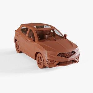3D coupe car auto model