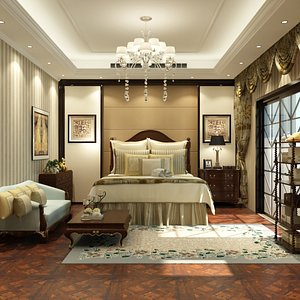 Full Bedroom in Empire Style 3D