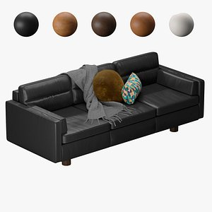 3D Aston leather sofa west elm