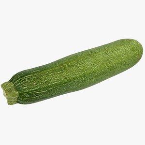3D food vegetable zucchini model