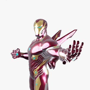 Iron Man Infinity War Rigged Model 3D model