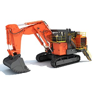 Mining Excavator Shovel 3D model