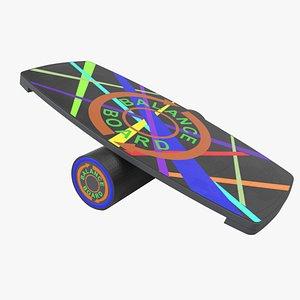 3D balance board model