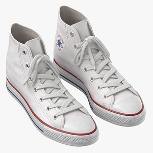 Basketball Leather Shoes White 3D model