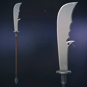 Chinese Long Battle Saber 3D model