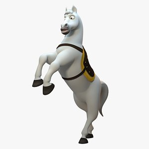 3D stylized horse rig