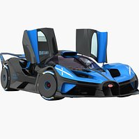 Bugatti Bolide 2021 Opening doors