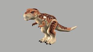 3D lego t-rex model