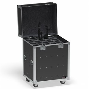 Flight Cases With Device Big 02 3D model