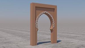 traditional moroccan door marrakech 3D model
