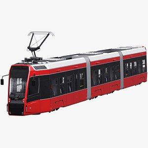 Modern Tram Streetcar 3D