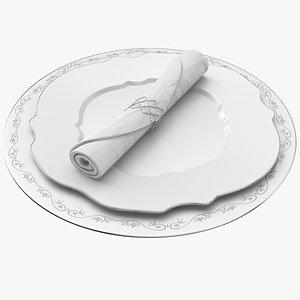 3D Dish Plate model