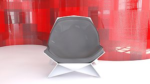 3D Geometric Chair Lounge