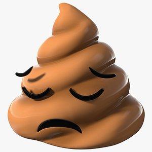 Disappointed Face Poop Emoji Smile model