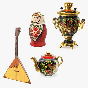 3D model Russian Traditional Symbols Collection 3