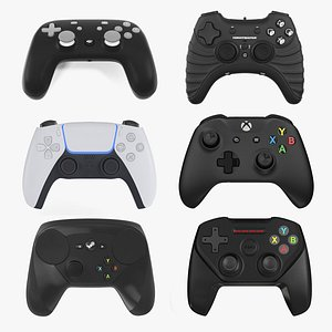 gaming controllers 3 3D model