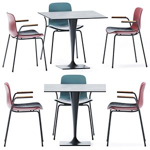 3D Square Table Dream 4820 by Pedrali