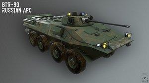 apc russian btr 3D model
