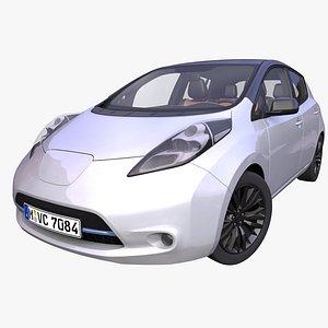 3D generic electric hatchback interior car