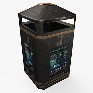 trash bin pbr 3D model