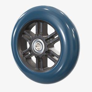 3D roller skate wheel model
