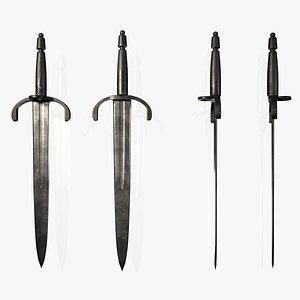 3D Realistic Short Sword