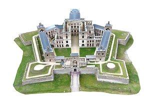 Castle Cross Ax 3D model