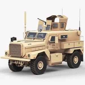 MRAP Cougar 4x4 Heavy Guns Carrier 3D model