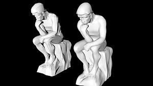 rodin s thinker 3D model