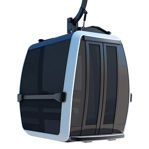 3D model cableway cable way