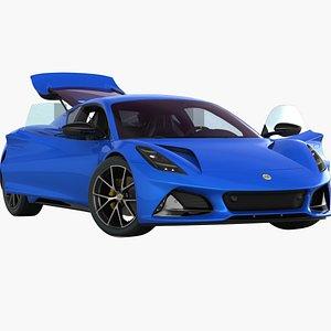 Lotus Emira 2022 Opening doors and trunk 3D model