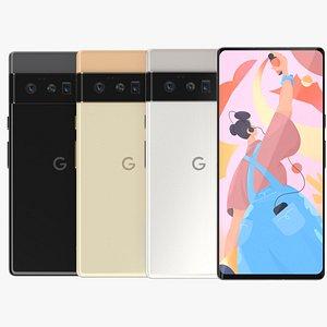 Google Pixel 6 Pro All Colors 3D model