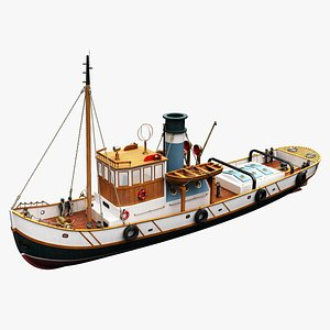 boat tugboat 3D