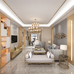 living room dining model