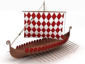3D Viking Ship