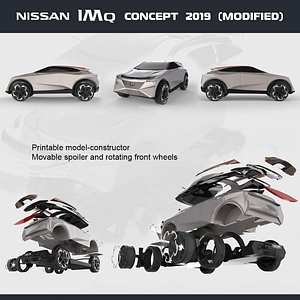 3D modified nissan imq concept