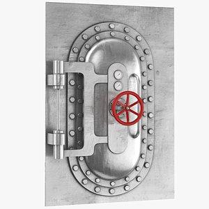 Metal Bunker Door 3D
