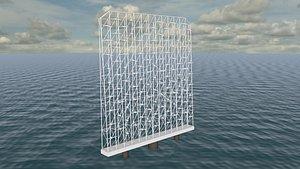 3D wind turbine farm