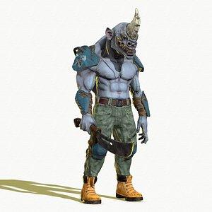 3D mad rhino
