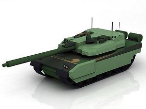 AMX-56 Leclerc France Main Battle Tank 3D model