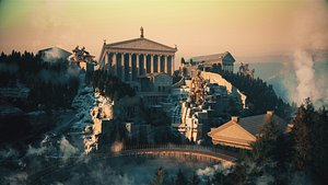 Roman Temple Temple Greek Mythology Norse Mythology Ragnarok 3D model