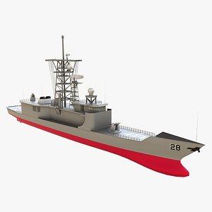 3D Frigate model