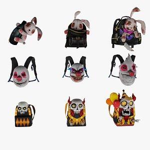 bag 9x Haunting Night Backpack Jester s Trick Murderous Amusement model